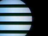 [2006年11月9日の水星の日面通過9:03の様子]